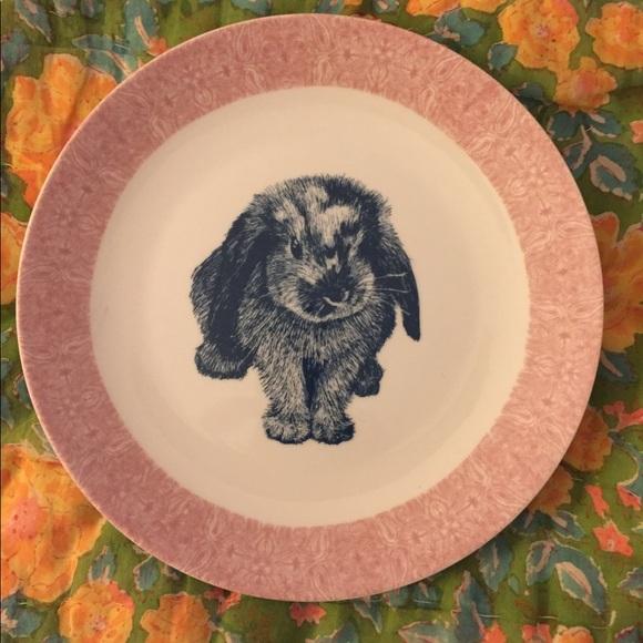 Anthropologie Other - Bunny rabbit Anthropologie Salad Plate EUC